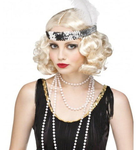 Flirty Flapper Wig-Blonde