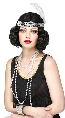 Flirty Flapper Wig-Black