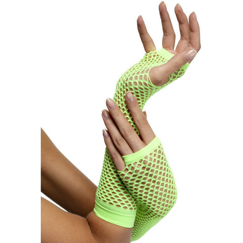 Fishnet Gloves-Green