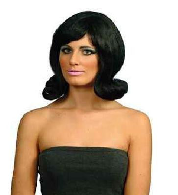 60s Style Wig-Black