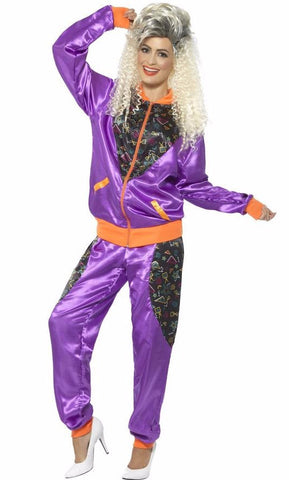 Retro Ladies Shell Suit Purple