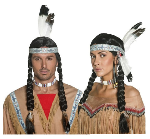 Native Indian Wig-Unisex