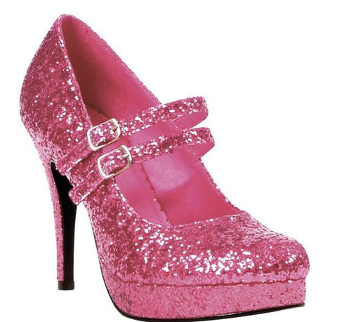 Glitter Dolly Shoes Pink
