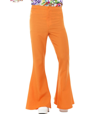 Flared Men's Trousers-Orange