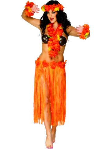 Hawaiian Skirt-Orange