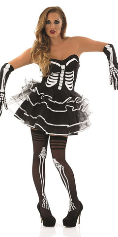 Skeleton Tutu Dress-Plus