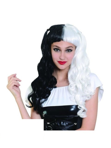 Black/White Long Wig