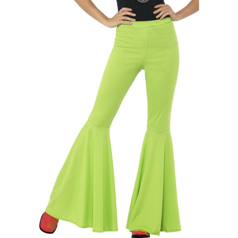 Flared Green Ladies Trousers