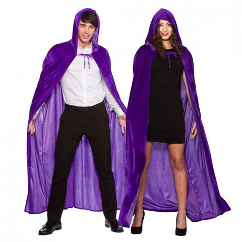Velvet Purple Hooded Cape Deluxe