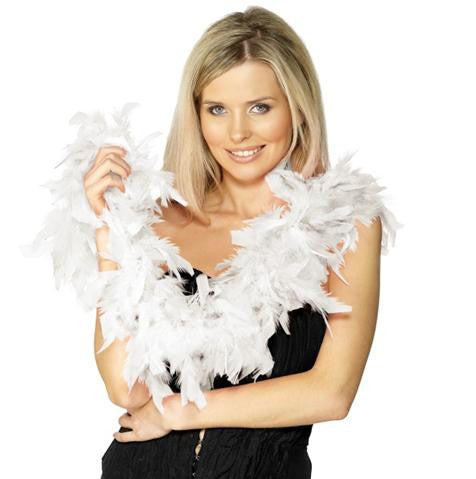 Feather Boa-White