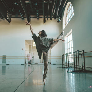 Hannah Bettes in rehearsal at Boston Ballet