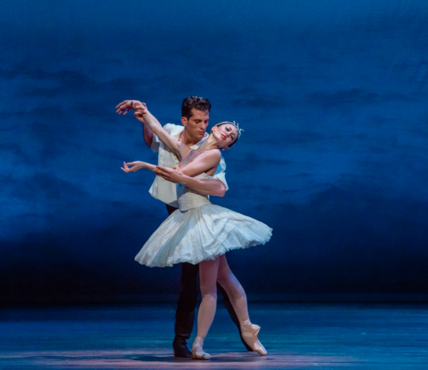 Dylan Gutierrez performing on stage with Joffrey Ballet
