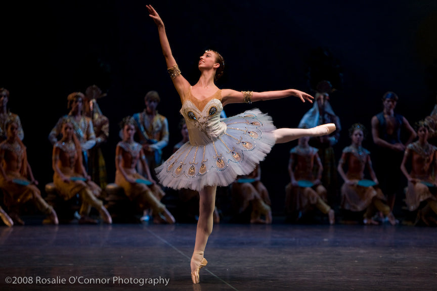 Tall Pas D'action in Natalia Makarova's  La Bayadere. Photo by: Rosalie O'Connor.