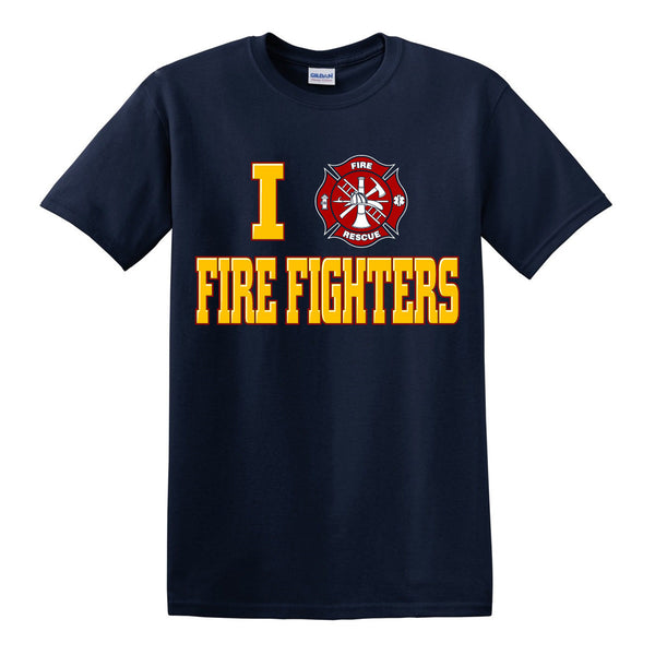 "I ""Heart"" Fire Fighters T-Shirt"