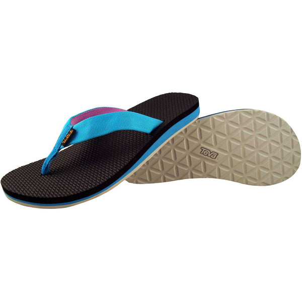 Teva Original Flip Women Thong Sandals - Blue Jewel / Pink