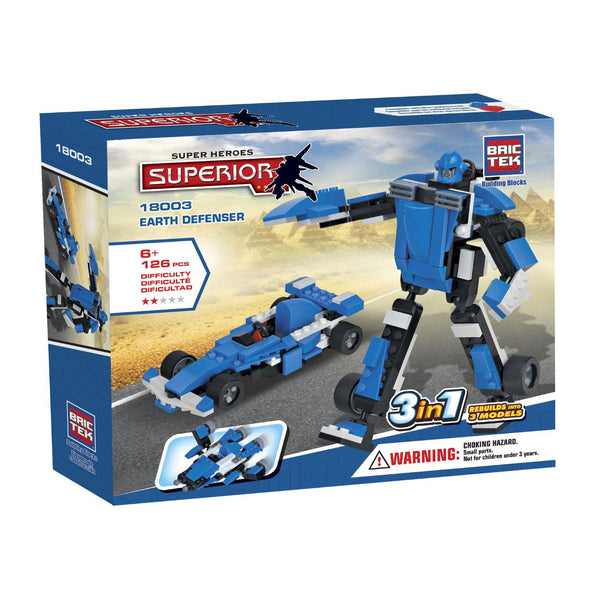 Brictek Heroes 3 in 1 Earth Defenser
