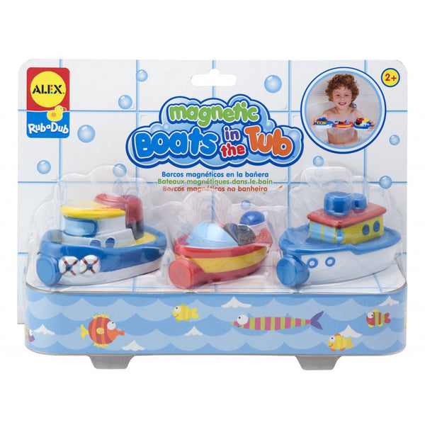 Magnetic Boats in Tub