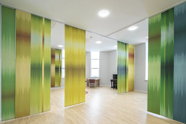 The Sanctuary at Bristol Royal Infirmary, with artwork by weaver Ptolemy Mann, artwork and interiors strategy by arts and health agency Willis Newson