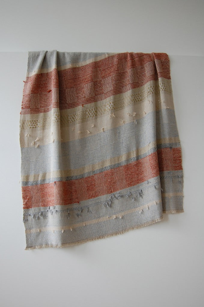 C_Riccabona hand-woven throw_with red