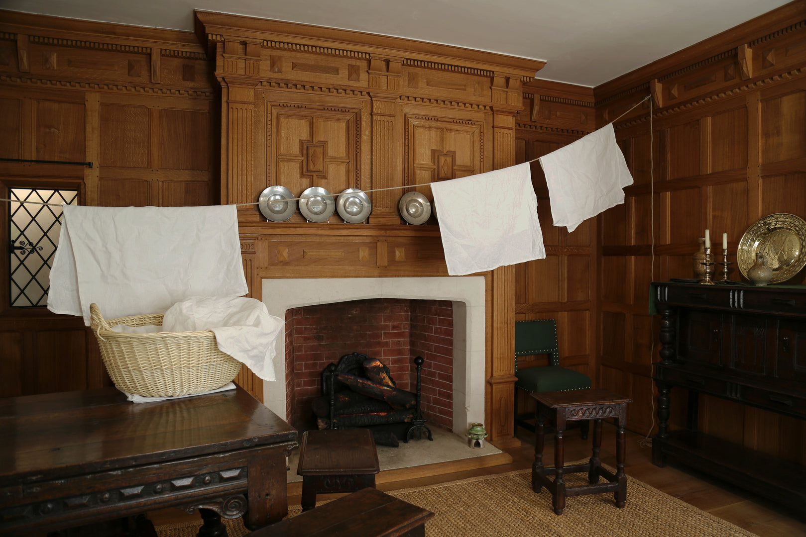 Installation photograph from Swept Under the Carpet? Servants in London households, 1600-2000 showing the interventions in the period rooms