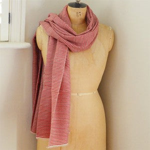 Large-Khadi-red-small-stripe-Scarf