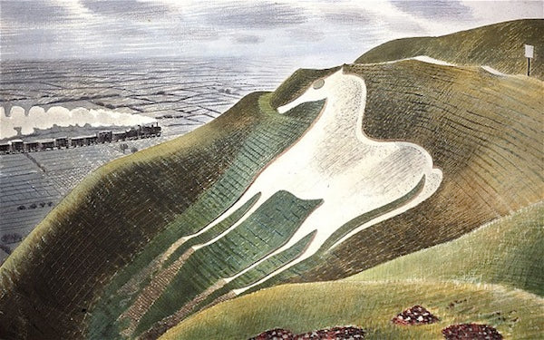 The Westbury Horse,  1939, watercolour on paper