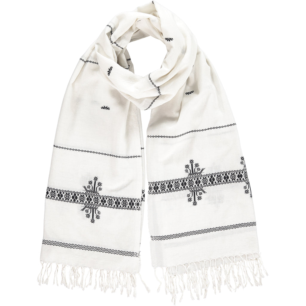 Khadi & Co, Embroidered Scarf - Selvedge Magazine