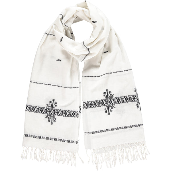 Khadi & Co, Embroidered Scarf