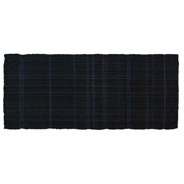 Khadi & Co, Wool Blanket Indigo & Black Stripe