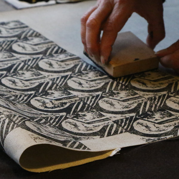 Saturday 2 October 2021, Block Printing, Virtual Workshop with with Louisa Loakes