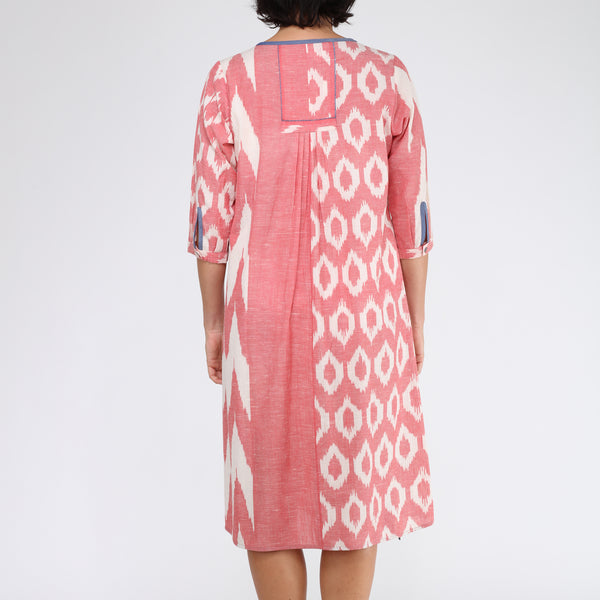 Bustle A line Dress by Translate Handwoven Ikat (INDIA)