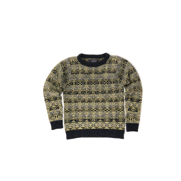 Crewneck Jumper in Green by Mati Ventrillon, Fair Isle Knitwear (Scotland)