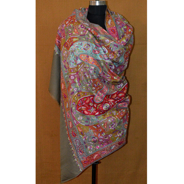 Natural Jamma Allover Pashmina 2 by AFRA by House Of Mirs (INDIA)