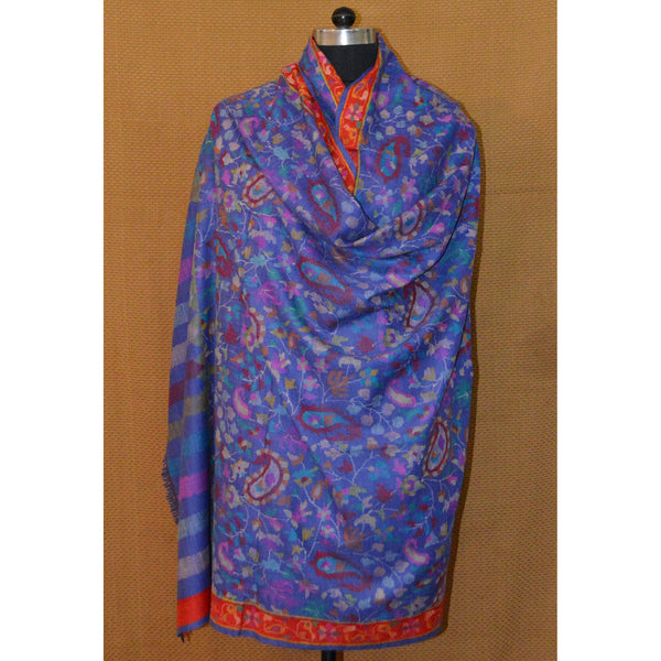 Blue Hand woven on loom Pashmina by AFRA by House Of Mirs (INDIA)