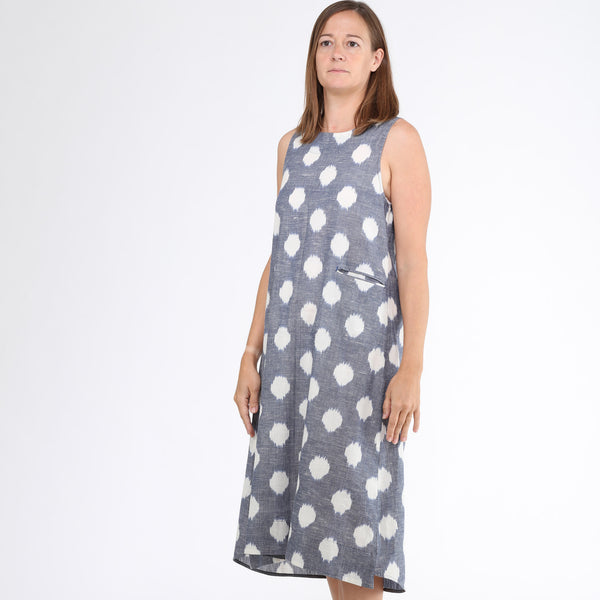 India, Translate Handwoven Ikat, Dream Sleeveless Shift Dress