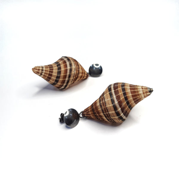 Black Snail Earrings by Rita Soto (CHILE)