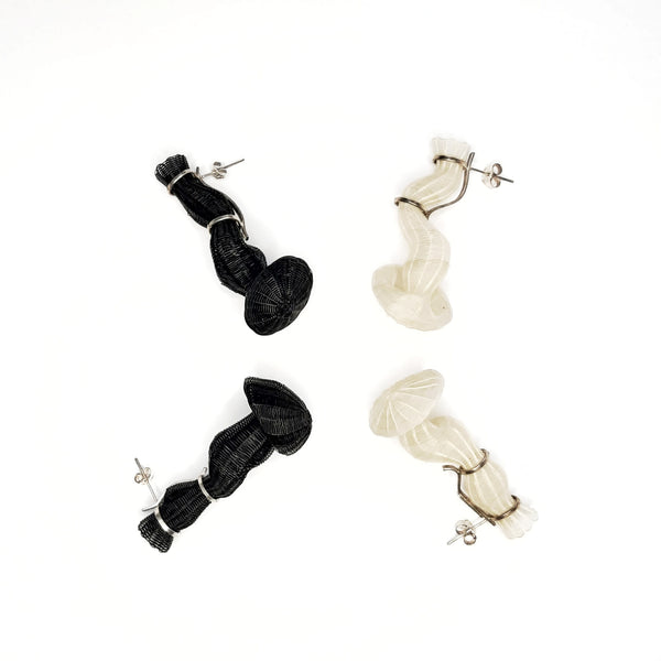 Chile, Rita Soto, Black Folds of Memory Earrings