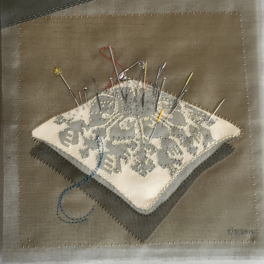 22-29 August 2020, Emily Jo Gibbs, Illustrative pictures: working with silk organza and hand stitch - Selvedge Magazine