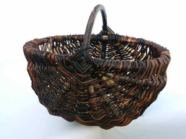 Harvest basket by Hilary Burns (ENGLAND)