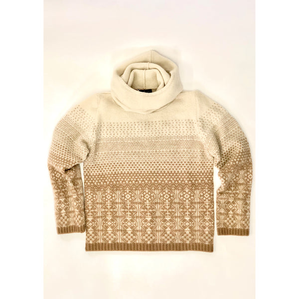 Hooded Jumper in Camel by Mati Ventrillon, Fair Isle Knitwear (Scotland)
