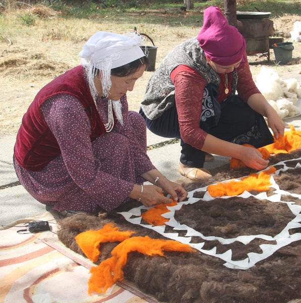 Kyrgyzstan, Dinara Chochunbaeva, Central Asia Crafts Support Association's Resource Center, Felt Making