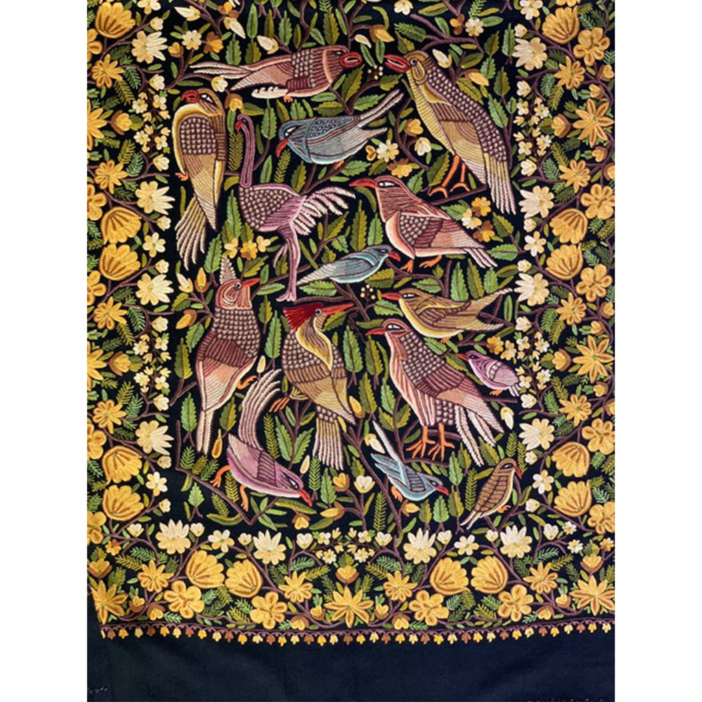 Flora & Fauna Scarf by Firdose Ahmed Jan (INDIA)