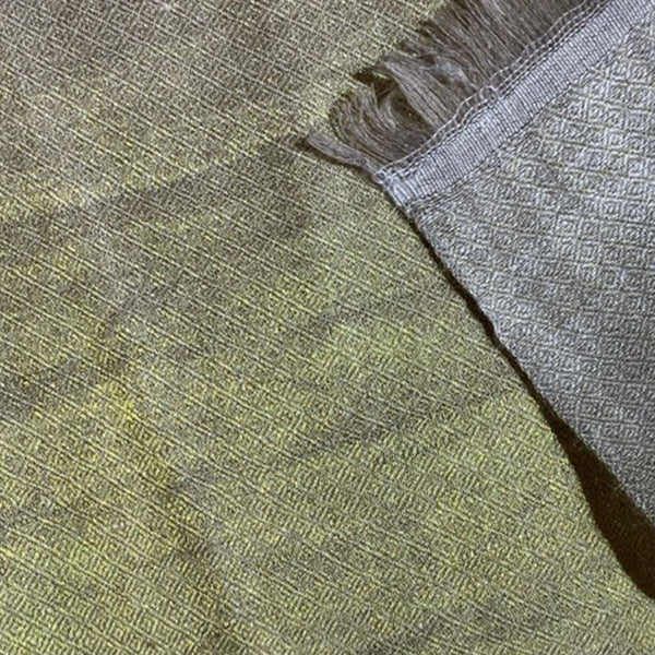 Pure Cashmere Pashmina Scarf hand woven with fine metallic thread by Firdose Ahmed Jan (INDIA)
