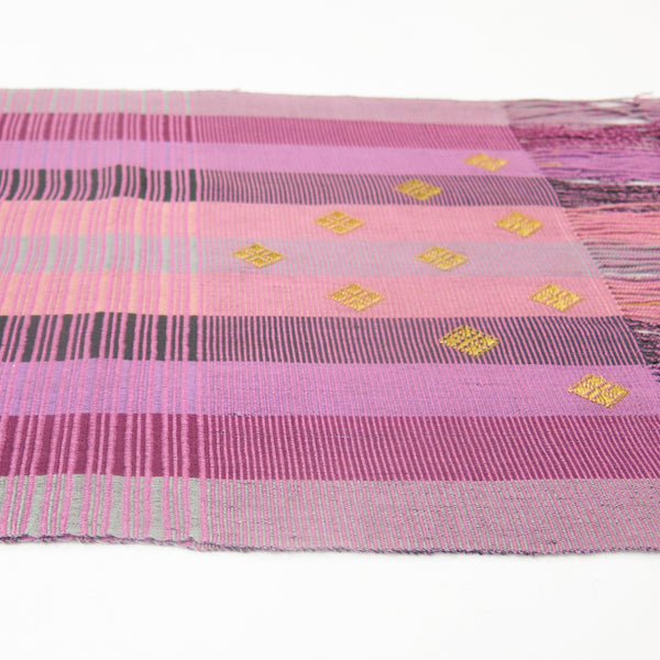 Silk On Cotton Scarf by Kelzang Wangmo (Bhutan)
