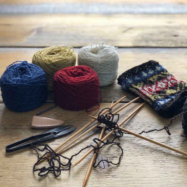 Material Pack for 5 September 2020, 9-11am BST, Fair Isle Knitting, Virtual Workshop with Mati Ventrillon (Scotland)