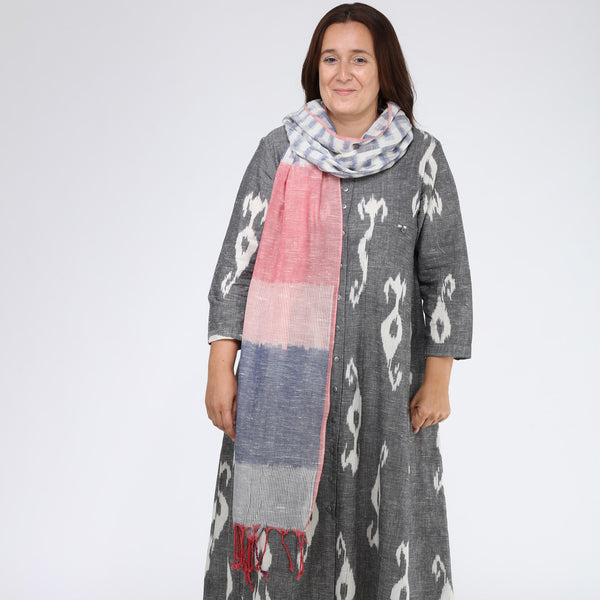 India, Translate Handwoven Ikat, Jigsaw Stole