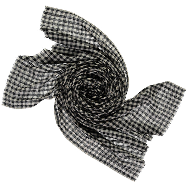 Khadi & Co, Pashmina Shawl, Black Checks