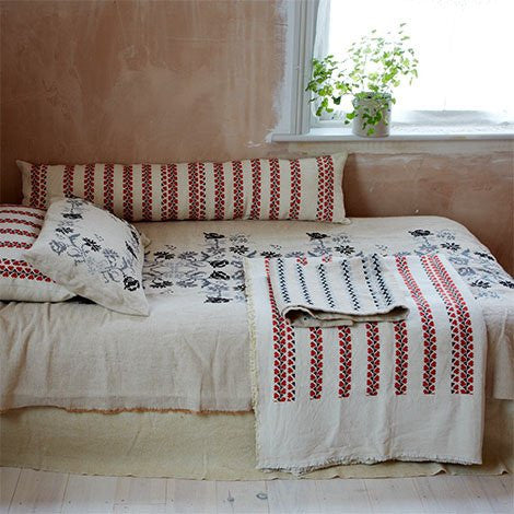 Khadi & Co, Cushion Covers, Embroidered - Selvedge Magazine - 2