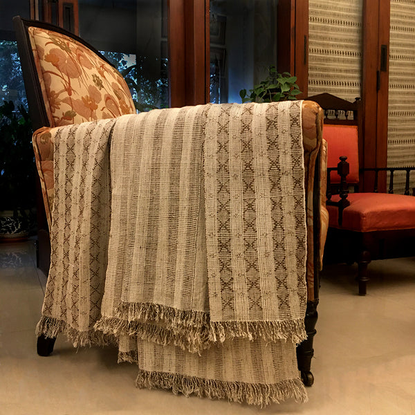India, Leshemi Origins/ Artisans' Gallery, Luxury Thebvora Throw