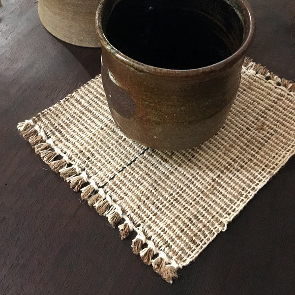 Thebvo Coaster Set by Leshemi Origins | ARTISANS' Gallery (INDIA)